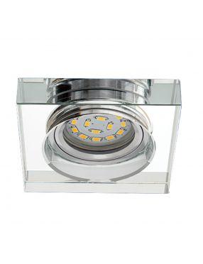 Oczko szklane OH48 clear kwadratowe