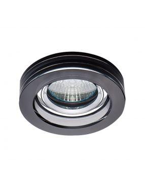 Oczko szklane OH49 czarne okrągłe