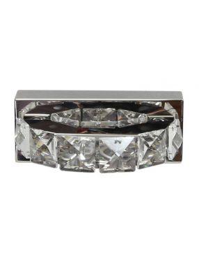LAMPA ŚCIENNA KINKIET CANDELLUX SHIPI 21-45256  LED KRYSZTAŁKI STAL NIERDZEWNA