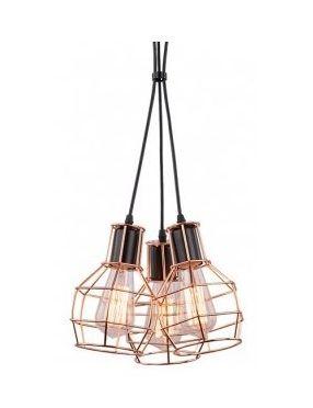 Lampa wisząca loftowa Carron 3 miedziana Azzardo  MD50148-3