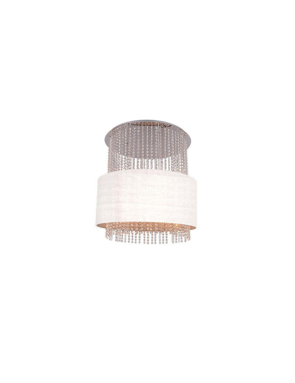 Lampa wisząca Glamour biała