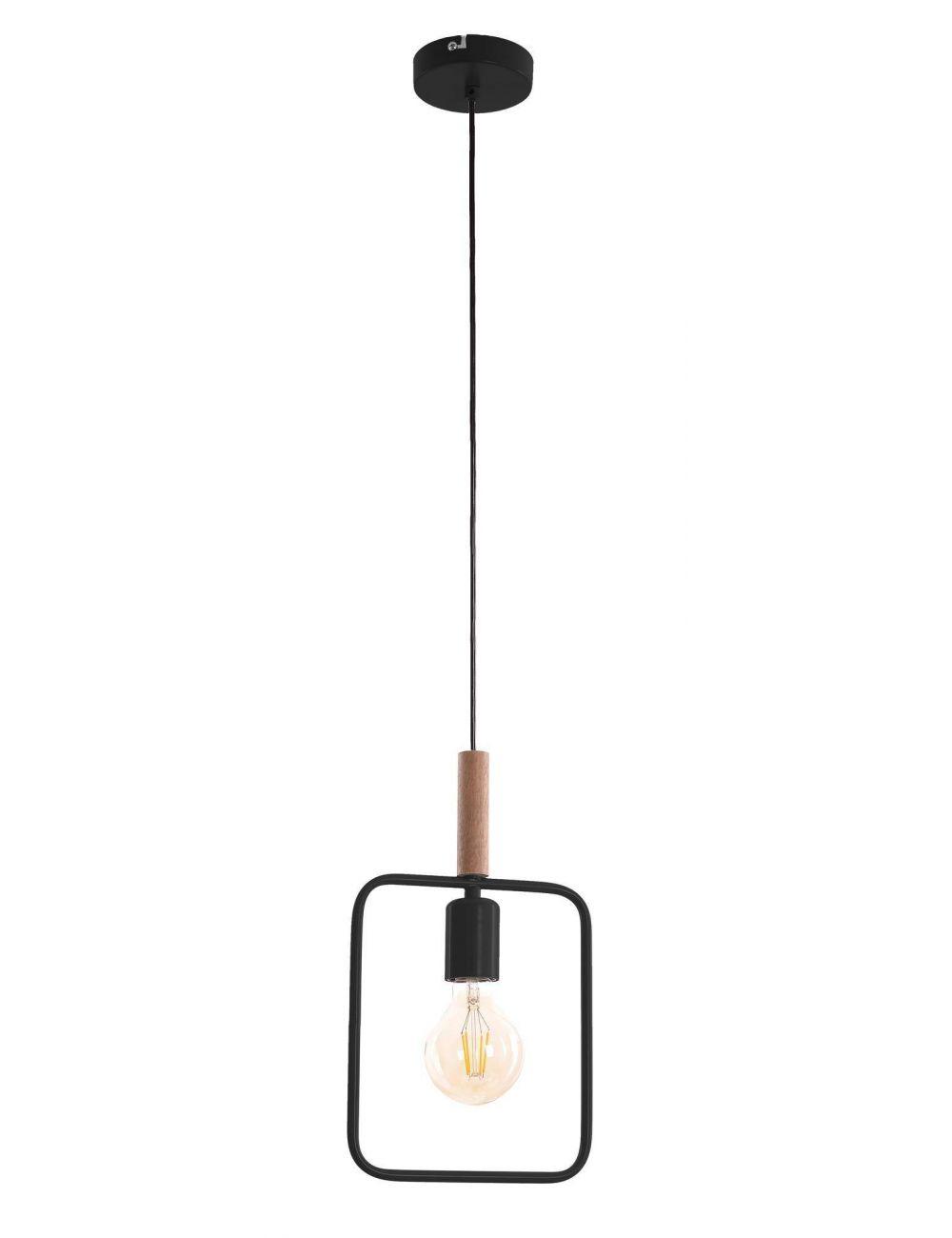 LAMPA SUFITOWA WISZĄCA CANDELLUX FRAME 31-73501CZARNY