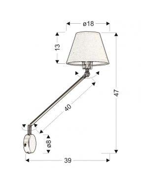 LAMPA SCIENNA KINKIET CANDELLUX FILLY 21-73891  CZARNY MATOWY