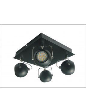 LAMPA SUFITOWA CANDELLUX WYPRZEDAŻ 98-25036-Z PLAFON TONY 4X3W LED GU10 CZARNY MATOWY