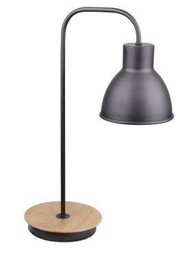LAMPKA GABINETOWA CANDELLUX VARIO  1X60W E27 CZARNY DREWNO