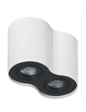 Lampa tuba nadtynkowa Bross 2 biała+czarna