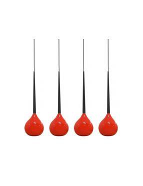 Rabaty!!! Aga 4  MD1289-4 Red lampa wisząca Azzardo