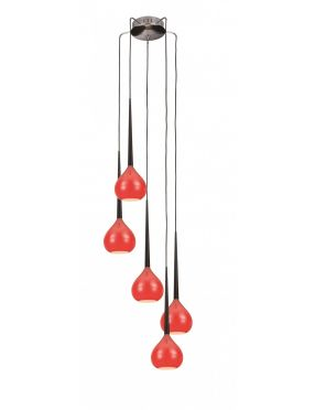 Rabaty!!! Aga 5  MD1289-5 Red lampa wisząca Azzardo