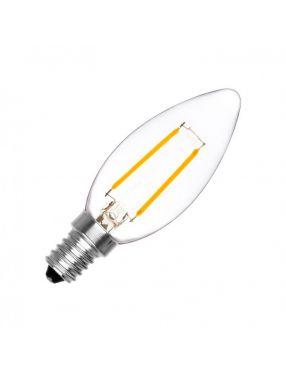 Żarówka filament E-14 świecowa 5,5W ciepła LED