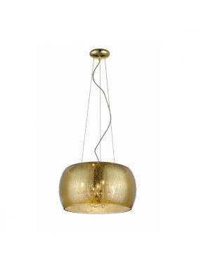 Lampa wisząca nowoczesna szklana  złota Rain 40 Zuma Line