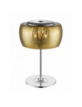 Lampka stojąca nowoczesna szklana złota Rain Zuma Line