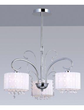 Lampa wisząca dekoracyjna Span 3 biała Italux