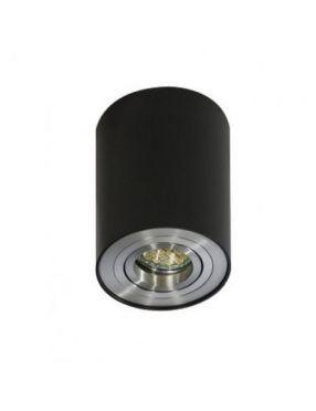 Lampa tuba metalowa okrągła BK/ALU Lampa Bross 1 Czarna Azzardo GM4100