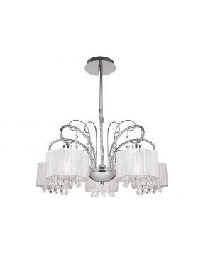 Lampa wisząca dekoracyjna Span 5 biała Italux