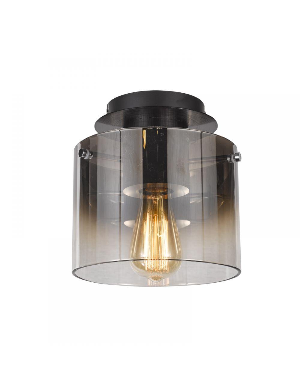 Plafon sufitowy nowoczesny szklany Javier Italux MX17076-1A BK