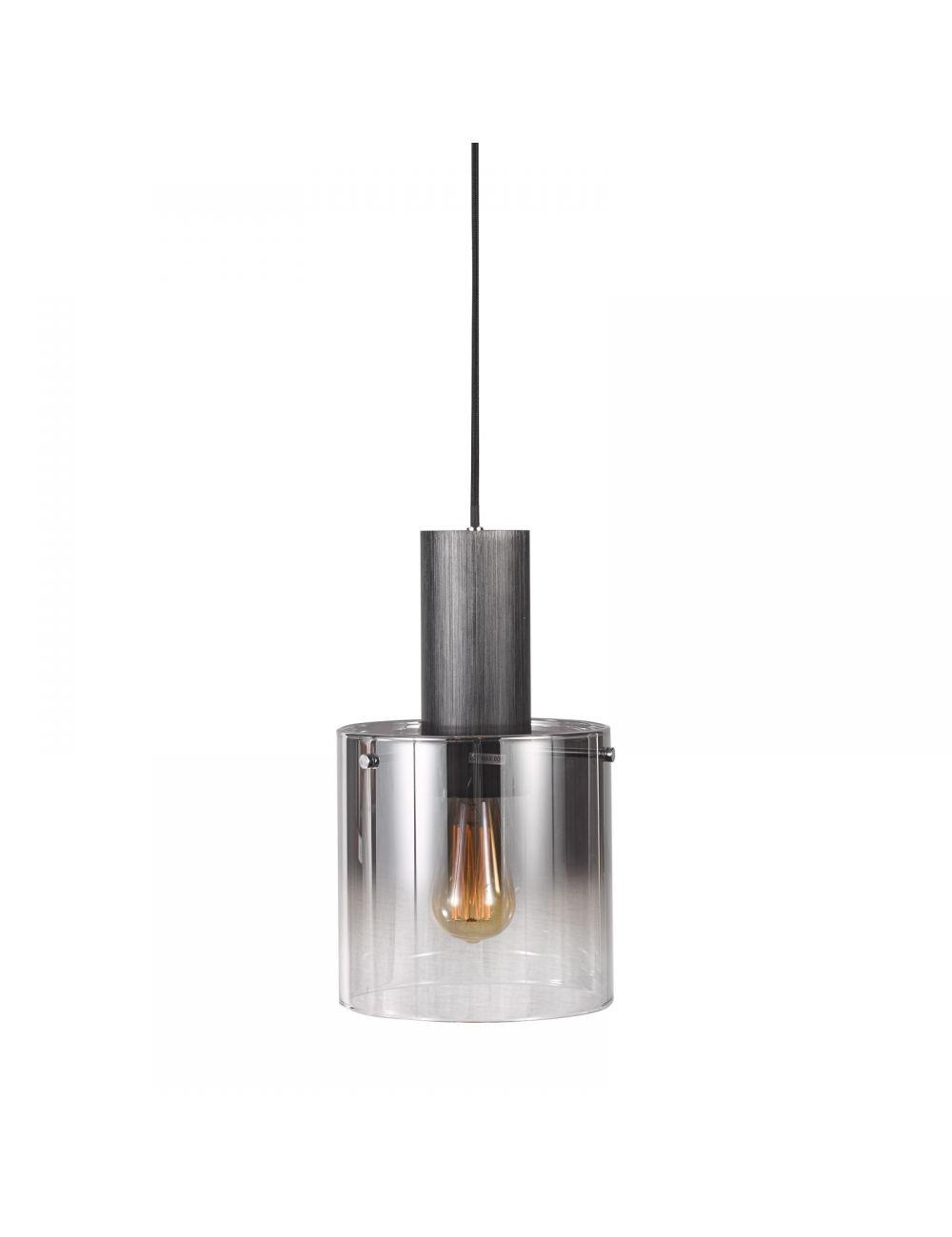 Lampa wisząca nowoczesna szklana Javier czarna 1 Italux MD17076-1A BK