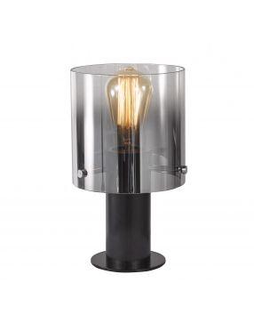 Lampka biurkowa szklana Javier czarna Italux MT17076-1A BK