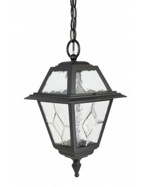 Lampa wisząca ogrodowa czarna Witraż SU-MA K 1018/1/N