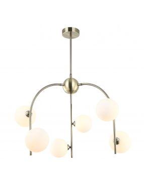 Celine lampa wisząca nowoczesna z kloszami Italux MDM-3800/6 AB+W