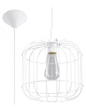 Lampa wisząca loftowa druciana biała Celta  Sollux SL.0295