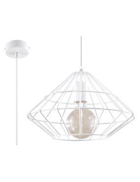 Lampa wisząca loftowa druciana biała Umberto  Sollux SL.0293