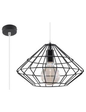 Lampa wisząca loftowa druciana biała Umberto  Sollux SL.0294