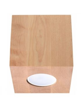 Lampa drewniana natynkowa plafon tubka Quad Sollux SL.0493