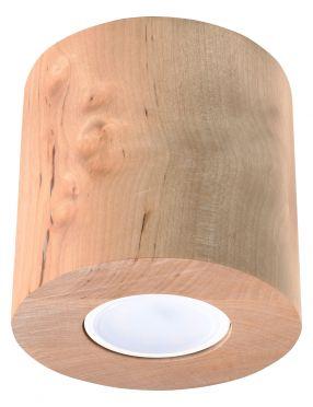 Lampa natynkowa tubka drewniana okrągła Orbis 1 Sollux Sl.0492