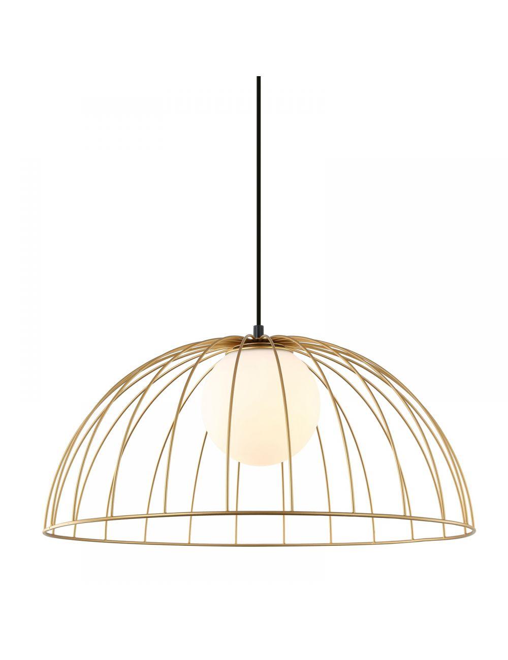 Lampa wisząca pojedyncza druciana złota Italux MDM-3761/1L GD