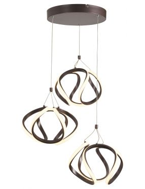 Lampa wisząca nowoczesna ledowa ring brązowa Ambrosio Rabalux 5693