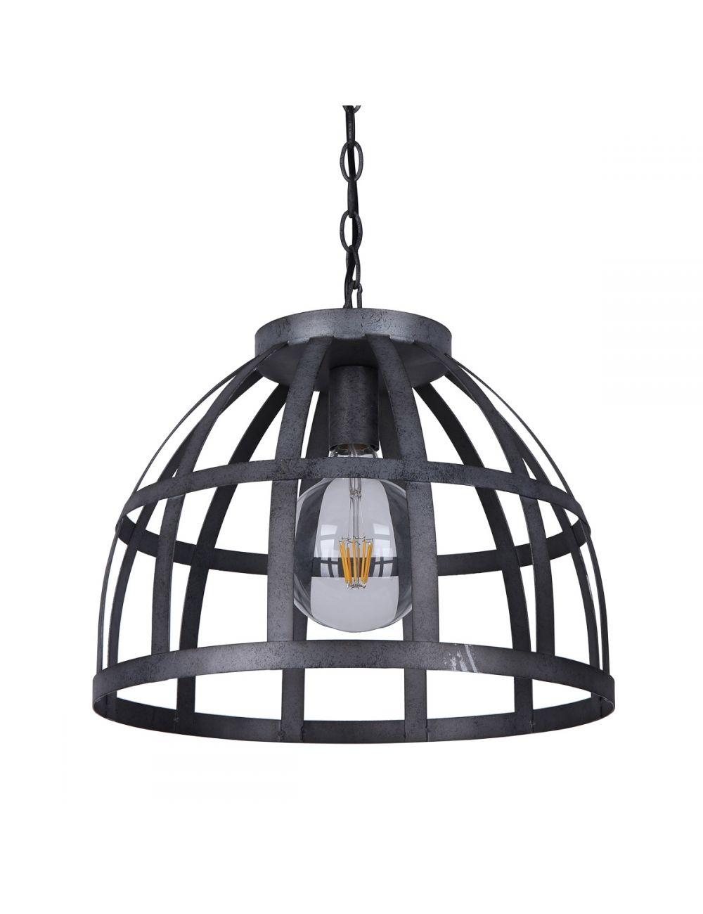 Lampa wisząca pojedyncza metalowa kuta Calera Italux PND-4014-47-1