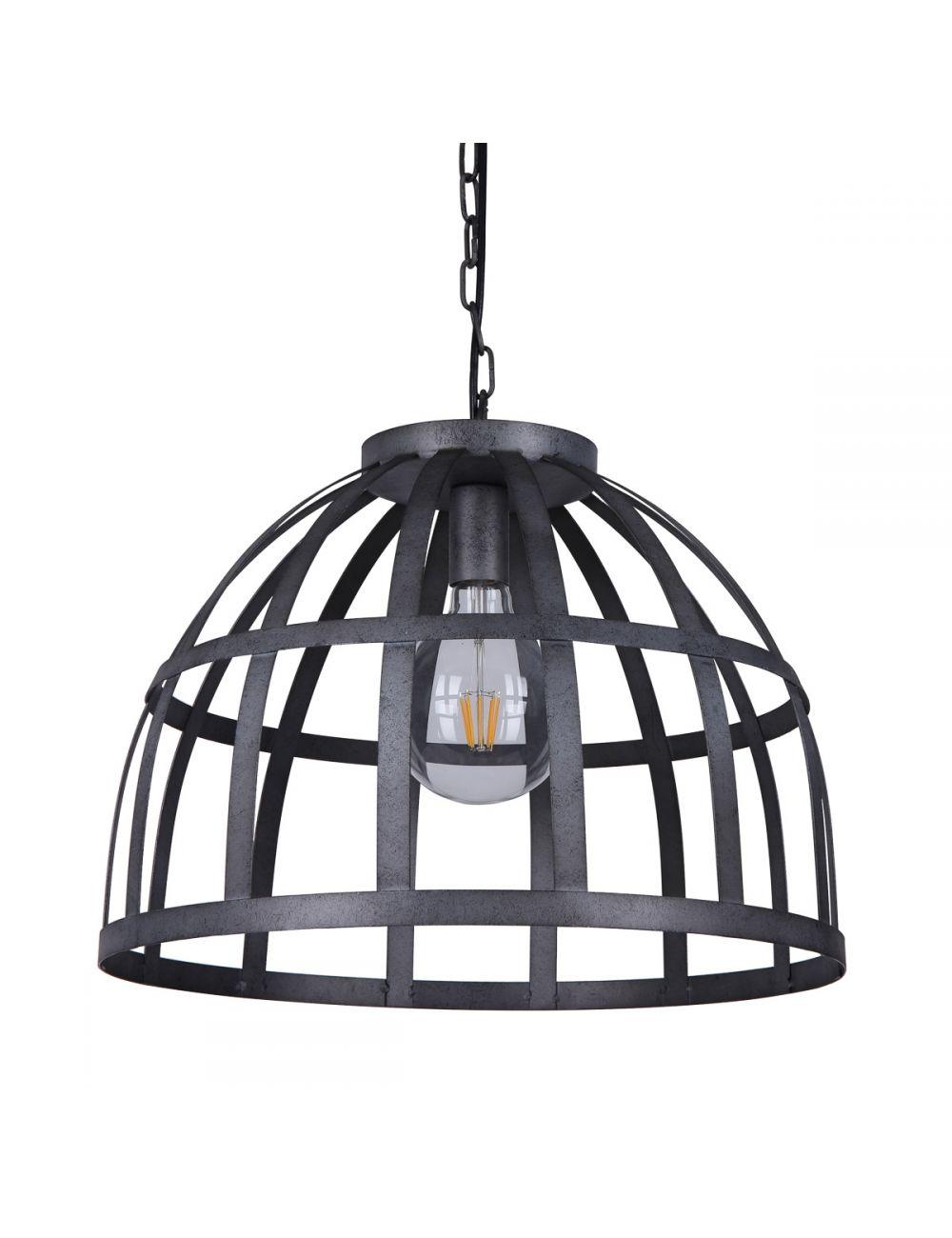 Lampa wisząca pojedyncza metalowa kuta Calera Italux PND-4114-40-1