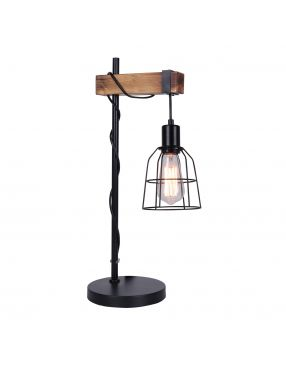 Lampka nocna stołowa drewniana loftowa Ponte Italux TB-4290-1