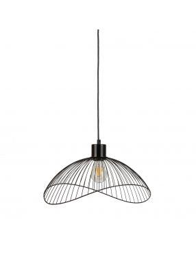 Lampa wisząca pojedyncza metalowa druciaki loft Nunez Italux PND-1702-1-M-B