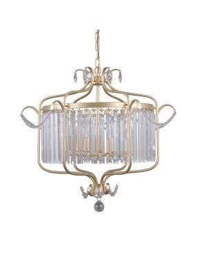 Lampa wisząca kryształowa żyrandol złoty Rinaldo Italux PND-33057-6-CH.G