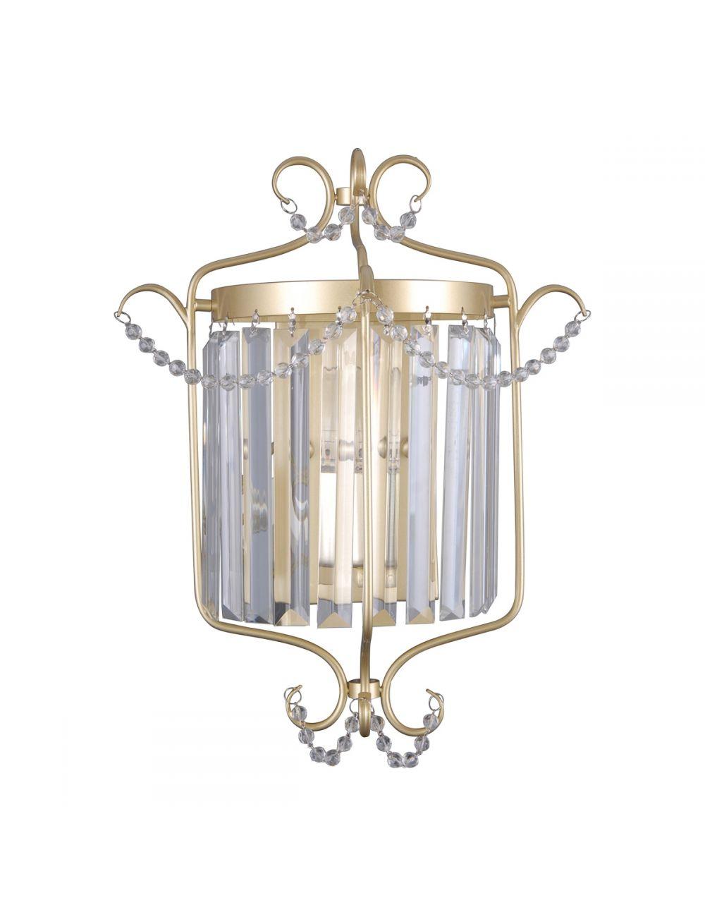 Kinkiet ścienny kryształowy glamour Rinaldo Italux WL-33057-1-CH.G