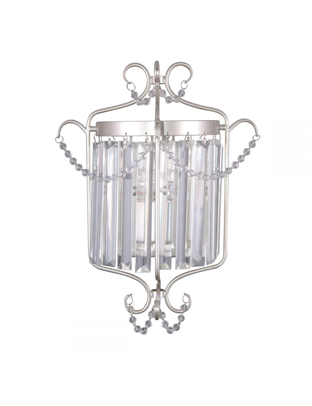 Kinkiet ścienny kryształowy glamour Rinaldo Italux WL-33057-1-CH.S