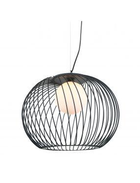 Lampa wisząca pojedyncza druciki loft czarna Clarisa Italux MDM-3842-1 BK