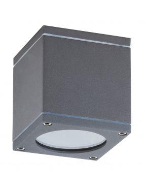Plafon sufitowy zewnętrzny tubka IP 54 kostka antracyt Akron Rabalux 8149