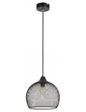 Lampa wisząca pojedyncza siateczka loftowa czarna Ronan Rabalux 7601