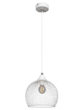 Lampa wisząca pojedyncza siateczka loftowa biała Ronan Rabalux 7602