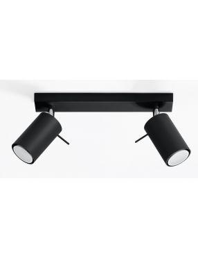 Kinkiet ścienny ruchomy reflektorek czarny 2 Ring Sollux SL0092