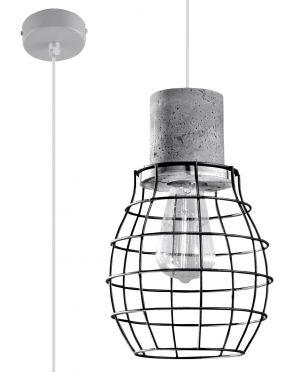 Lampa wisząca pojedyncza betonowa loftowa Lugo Sollux SL.0285