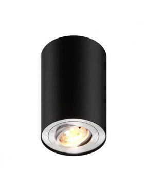 Lampa sufitowa tuba natynkowa spot Rondoo Zuma-line czarna 89201