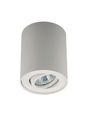 Lampa sufitowa tuba natynkowa spot Rondoc Zuma-line biała 20038-WH