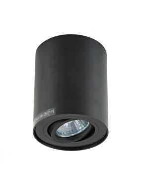 Lampa sufitowa tuba natynkowa spot Rondoc Zuma-line czarna 20038-BK