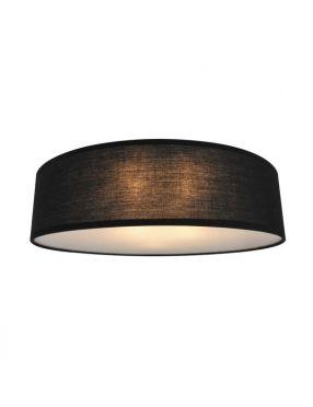 Lampa sufitowa plafon okrągły abażurowy czarny Clara 40 Zuma Line CL12029-D40-BK