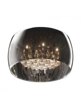 Lampa plafon sufitowy szklany chromowy z kryształkami Crystal 40 Zuma Line C0076-05L-F4FZ