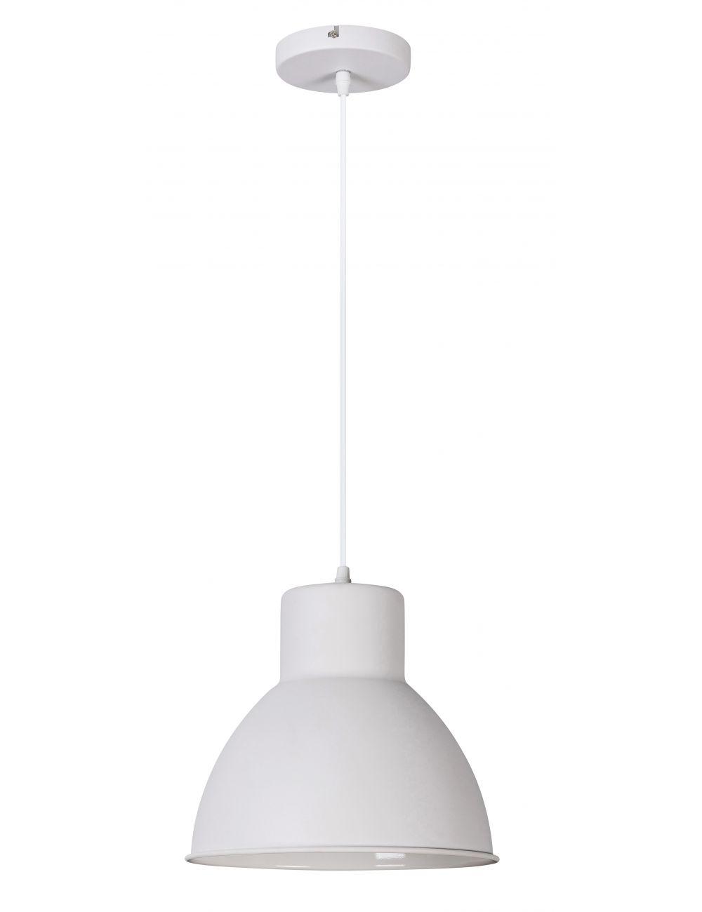 Lampa wisząca metalowa biała Derek loftowa Rabalux 2577