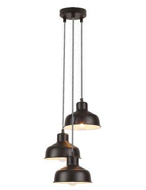 Lampa wisząca metalowa loftowa czarna Owen   Rabalux 2790
